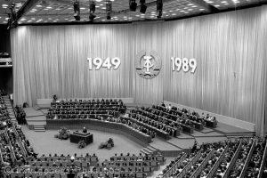 Ofizielle Staatsakt zum 40. Jahrestag der DDR im Palast der Republik am 06.10.1989.